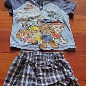 3t Paw Patrol 2 piece outfit